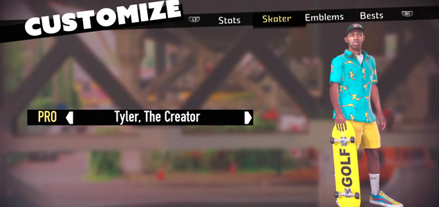 Tyler the Creator en el Tony Hawk's Pro Skater 5