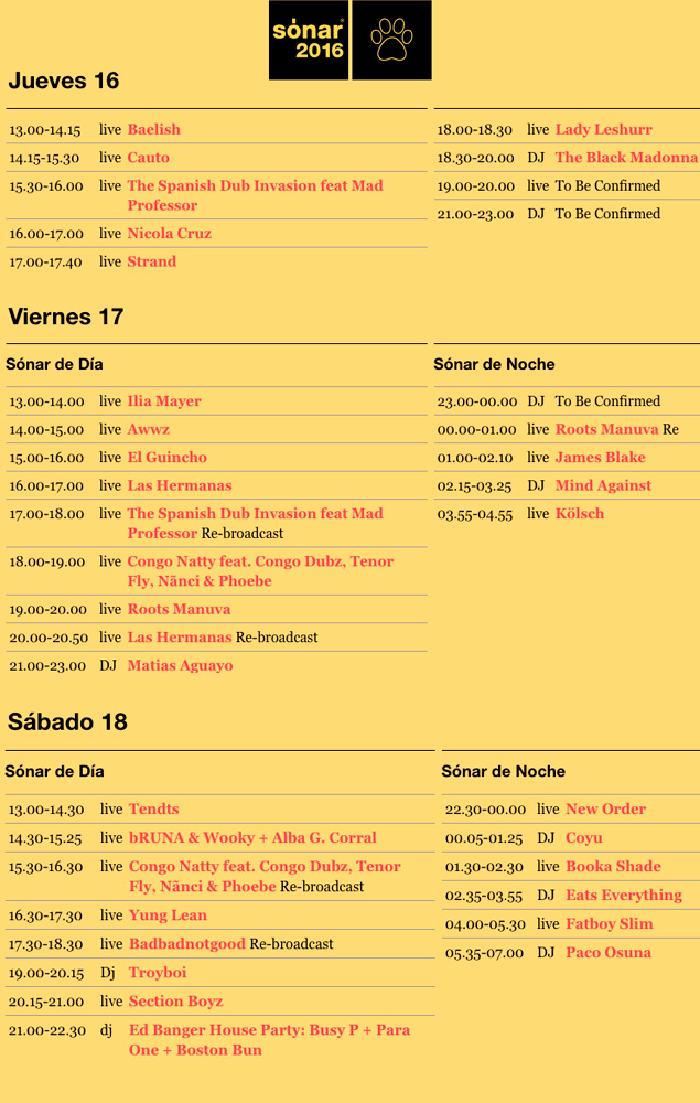 sonar-2016-horarios-streaming